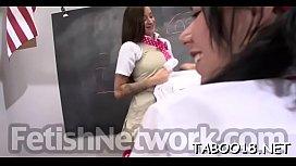 Appetizing teen diligently pleasing her guys heavy cock
