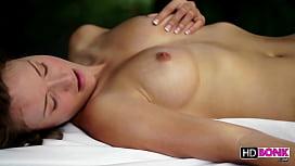 Malena Morgan and Lily Love lesbian massage