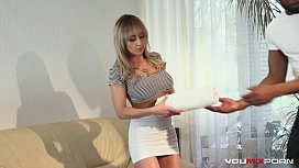 YOUMIXPORN Red hot busty blonde Christina Shine fucked in the ass by a BBC after massage