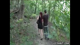 Mature amateur wife outdoor hardcore action with guys