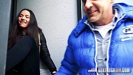 Hot Nataly Gold Gives a Handjob to a Stranger
