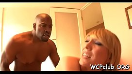 Hot and naughty ebony chick gets fat chocolate penis in ass