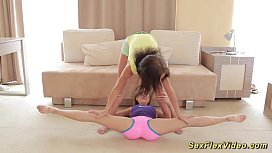 Hot teens help nude stretches