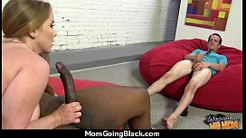 Sexy mom gets a creamy facial after getting pounded by a black dude 9