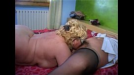 Lesbian granny licking hairy matures pussy