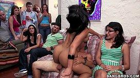 Pornstars Raid Campus Dorm Room Full Of College Boys!