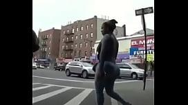 Black Girl With Bubble Butt in Brazilian Jeans