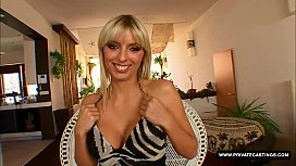 Busty blonde Stella Delcroix visits the casting couch
