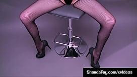 Busty Crotchless Cougar Shanda Fay Dildo Fucks Her Moist Mature Muff!
