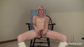 Slim Blonde Ari Fucks Her New Toys