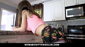MyBabySittersClub - Sexy babysitter (Shae Celestine) Fucks Client