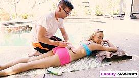 Sensual massage leads to kinky sex with blonde vixen Bree Mitchells