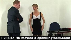 Punished young secretary