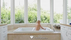 PureMature - Hot Milf Alexis Fawx making a splash in the bath