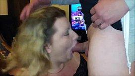 OLD BBW Swallows Hot Jizz After Blowjob