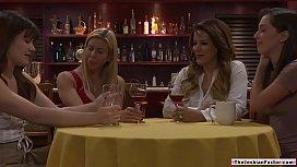 Lesbian babe fingers friends stepmom