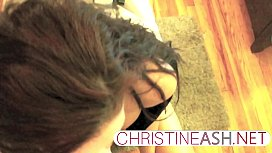 christineash.net | MILG giving Sloppy Dildo Blowjob