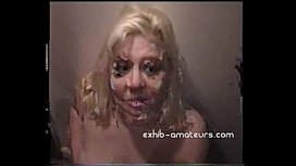 Blonde amateur sucks many cocks with facials xojav