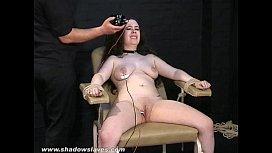 Merciless electro tortures of chubby Nimue Allen