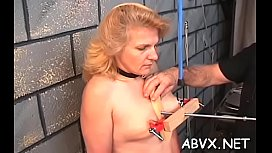 Big ass mature extraordinary moments of coarse amateur bondage