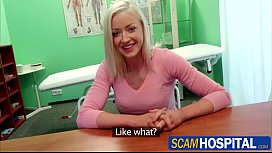 Hot blonde Victoria gets rammed by her doctor in the hot table
