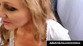 Step-Mom Julia Ann Stuffs Her Muff With Step-s.'_s Cock!
