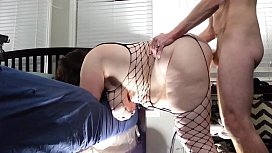 Bbw huge tit wife fucked from behind and creampied/huge swinging tits