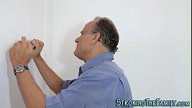 Latina milf stepmother with big ass and tits