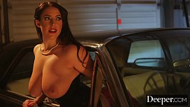 Deeper Angela White Lures Each Man In To Take Their Turn