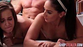 Burglars Peyton and Sienna Suck Cock and Fucking