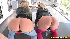 Reality Kings Two hot blondes share cock