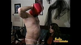 Hung stallion enjoys having his cock pleasured in numerous kinky ways