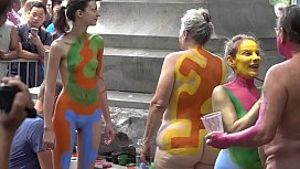 BODY PAINTING NYC ARTISTS-ANDY GOLUB AND COMPANY xxx image