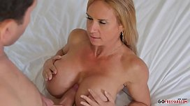 Mature blonde with big tits fuck and fuck