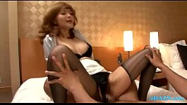Hot Secretary Fucked Creampie On The Bed In The Hotel