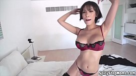 My stepmom is a blowjob queen and she can proove it