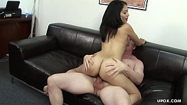 Alluring chick Andrea Kelly got her hairy snatch slammed hard