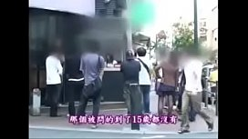 Japanese cute girl sex at public