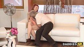 Boyfriend Catches Pervert Dad Fingering His Slutty GF &amp_ Punishes Her
