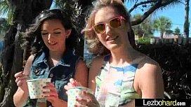 Cute Lesbians Make Love Sex Scene On Cam clip-17
