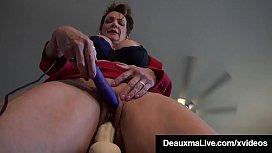 Horny Cougars Deauxma &amp_ Savannah Steele Fuck Cock Machine!