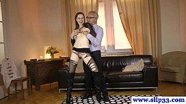 Tall amateur eurobabe enjoys rau sex