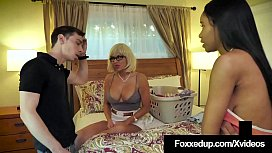 Chocolate Chick Jenna Foxx &amp_ Boyfriend Fuck StepMom? Dude!