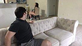Step sister on Crutches Sucks and Fucks Catherine Grey