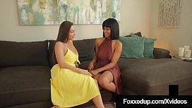 Interracial Muff Stuffers Jenna Foxx &amp_ Abigail Mac Orgasm!
