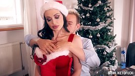 Slutty Mom Aletta Ocean gets the Xmas Gift of Double Penetration