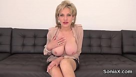 Unfaithful british mature lady sonia shows her big melons