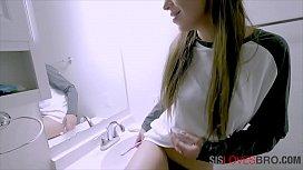 Ambushing sisters bush in the bathroom SO KINKY