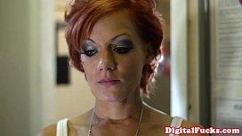 Mega tits redhead Lou Lou fucked closeup