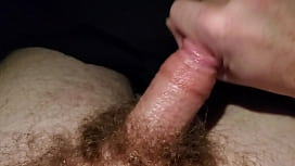 Quick jerk off in bed be going to sleep